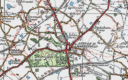 Old map of Ashton-in-Makerfield in 1924