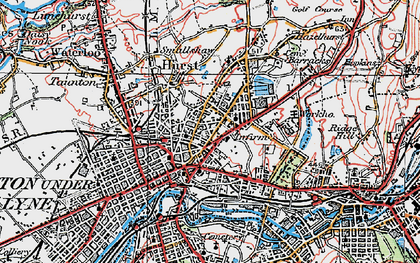 Old map of Ashton-Under-Lyne in 1924