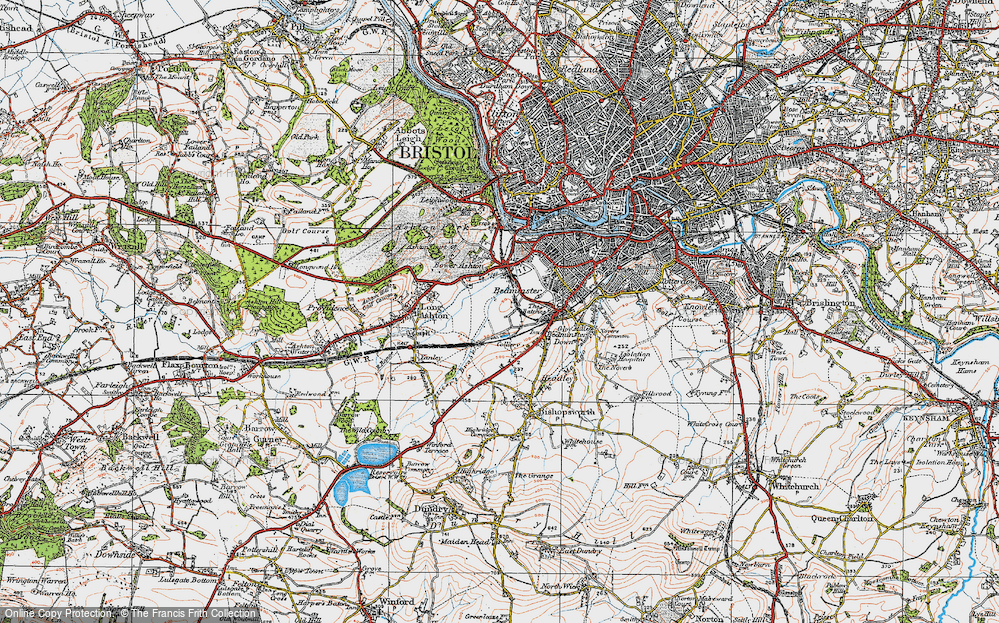Old Map of Ashton Vale, 1919 in 1919