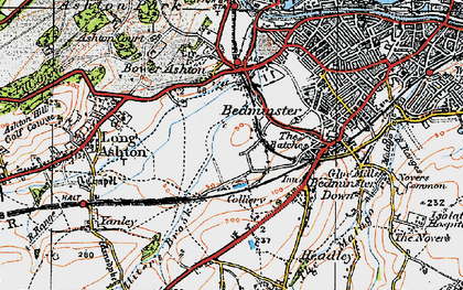 Old map of Ashton Vale in 1919