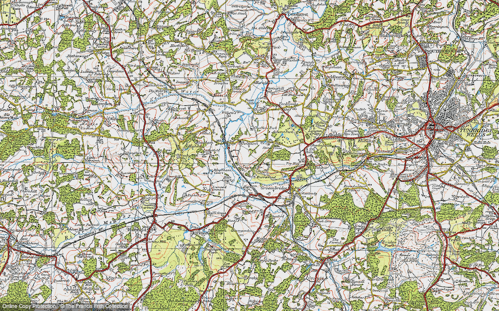 Old Map of Ashurst, 1920 in 1920