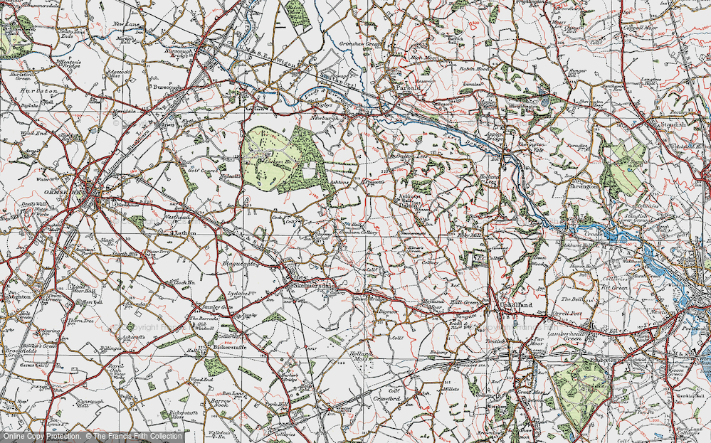 Old Map of Ashurst, 1923 in 1923