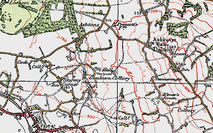 Old map of Ashurst in 1923