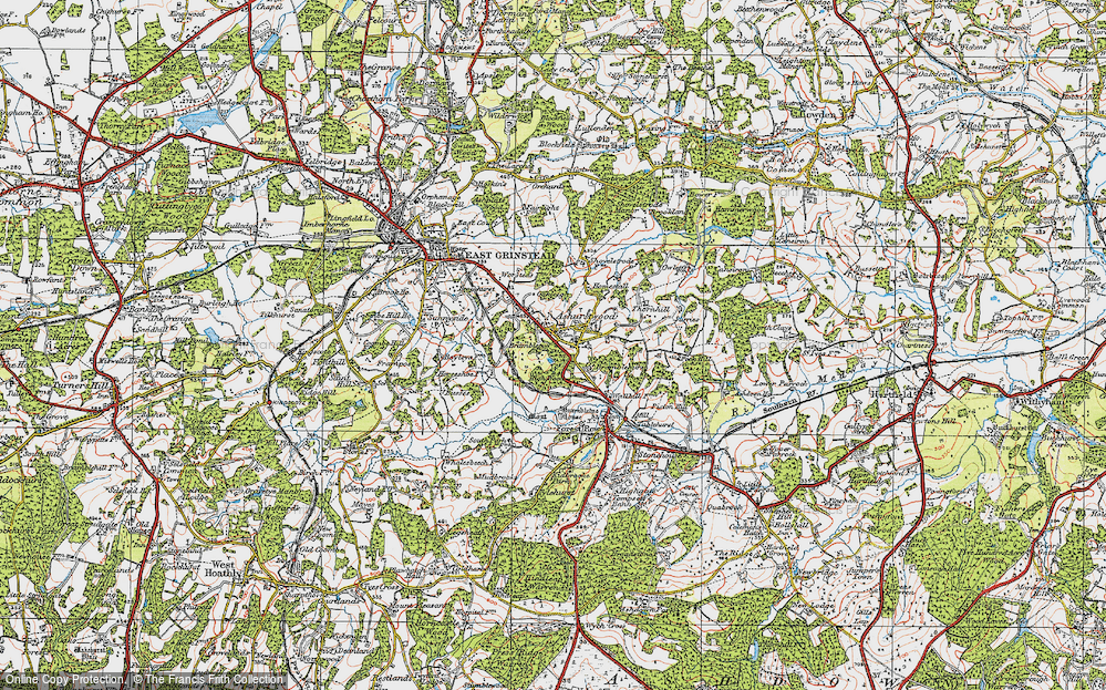 Old Map of Ashurst Wood, 1920 in 1920