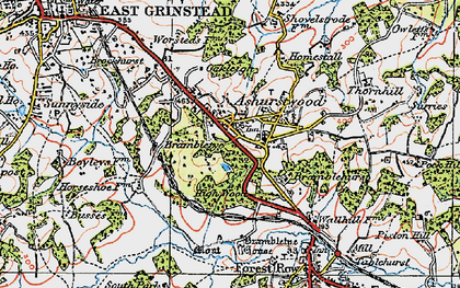 Old map of Brambletye House in 1920