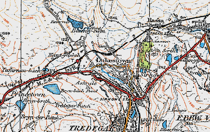 Old map of Ashvale in 1919