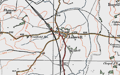 Old map of Ashwell Court in 1921