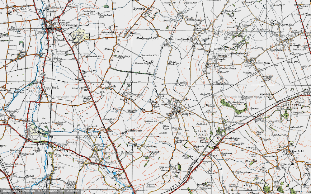 Old Map of Ashwell End, 1919 in 1919