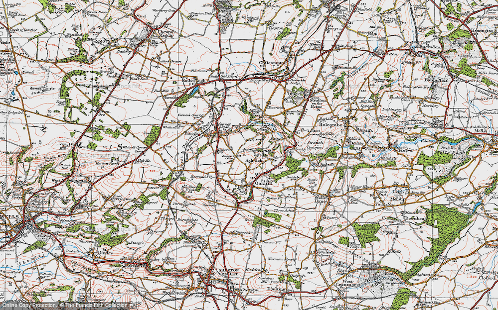 Old Map of Ashwick, 1919 in 1919