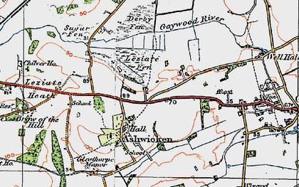 Old map of Ashwicken in 1921