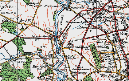 Old map of Ashwoodfield Ho in 1921