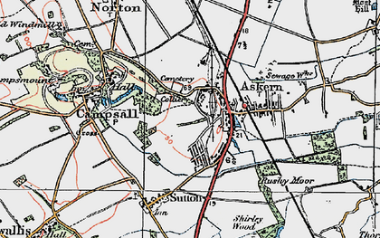 Old map of Askern in 1923