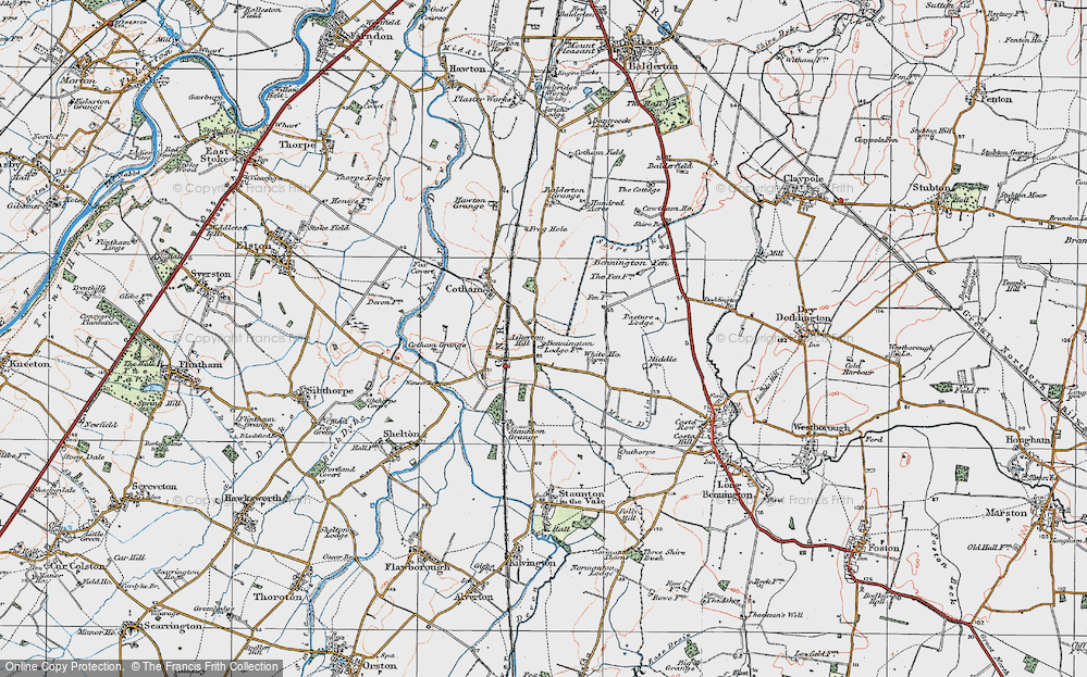 Old Map of Askerton Hill, 1921 in 1921