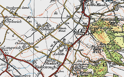 Old map of Askett in 1919