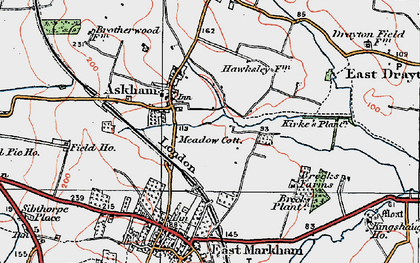 Old map of Askham in 1923