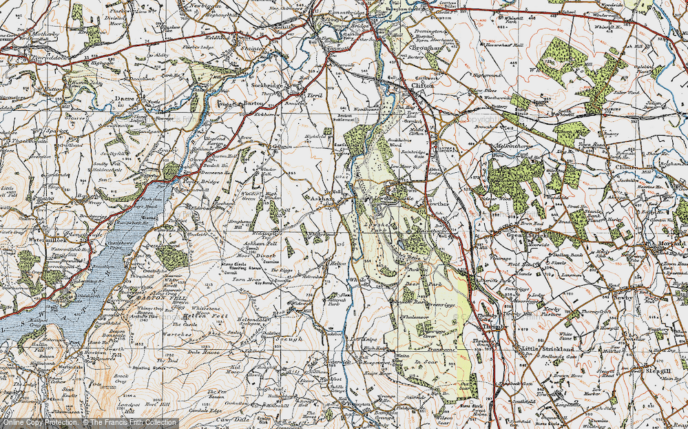 Old Map of Askham, 1925 in 1925