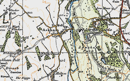 Old map of Askham in 1925