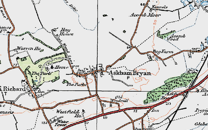 Old map of Askham Bryan in 1924