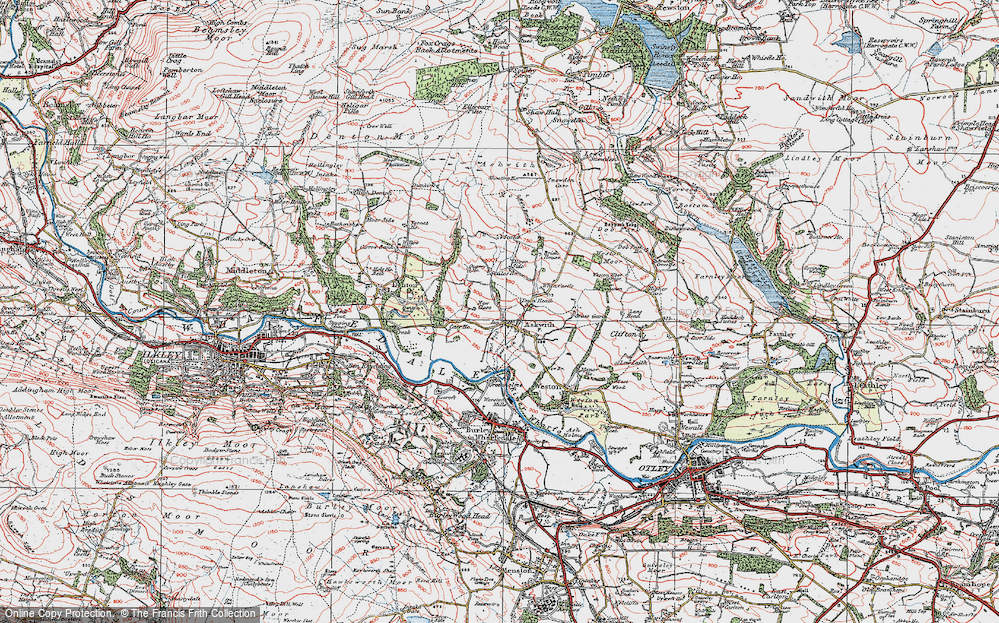 Old Map of Askwith, 1925 in 1925