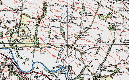 Old map of Askwith in 1925