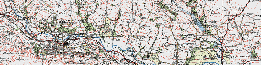 Old map of Whitbeck Manor in 1925