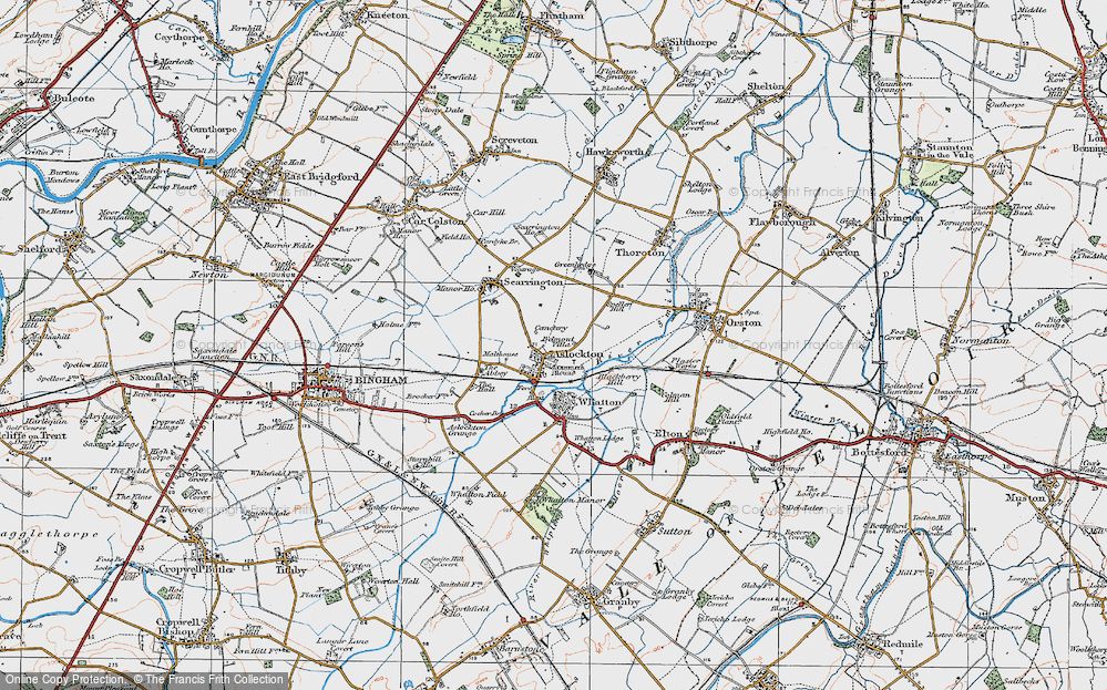 Old Map of Aslockton, 1921 in 1921