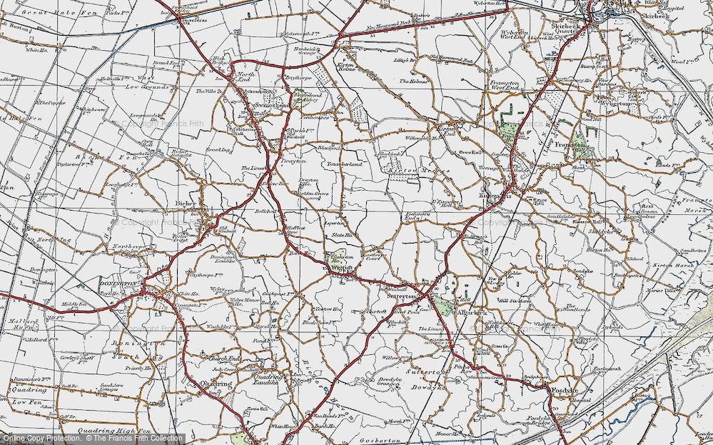 Old Map of Asperton, 1922 in 1922