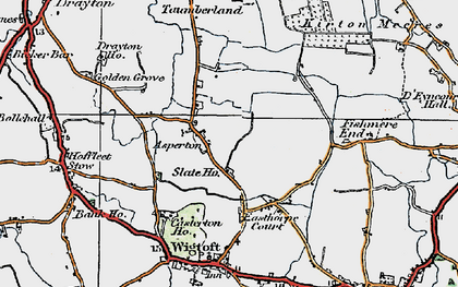 Old map of Asperton in 1922