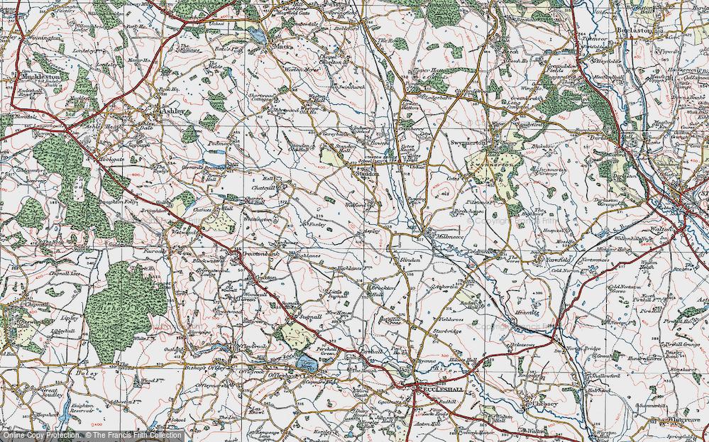 Old Map of Aspley, 1921 in 1921