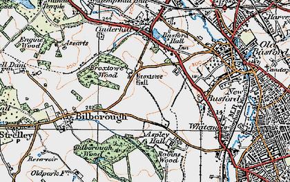 Old map of Aspley in 1921
