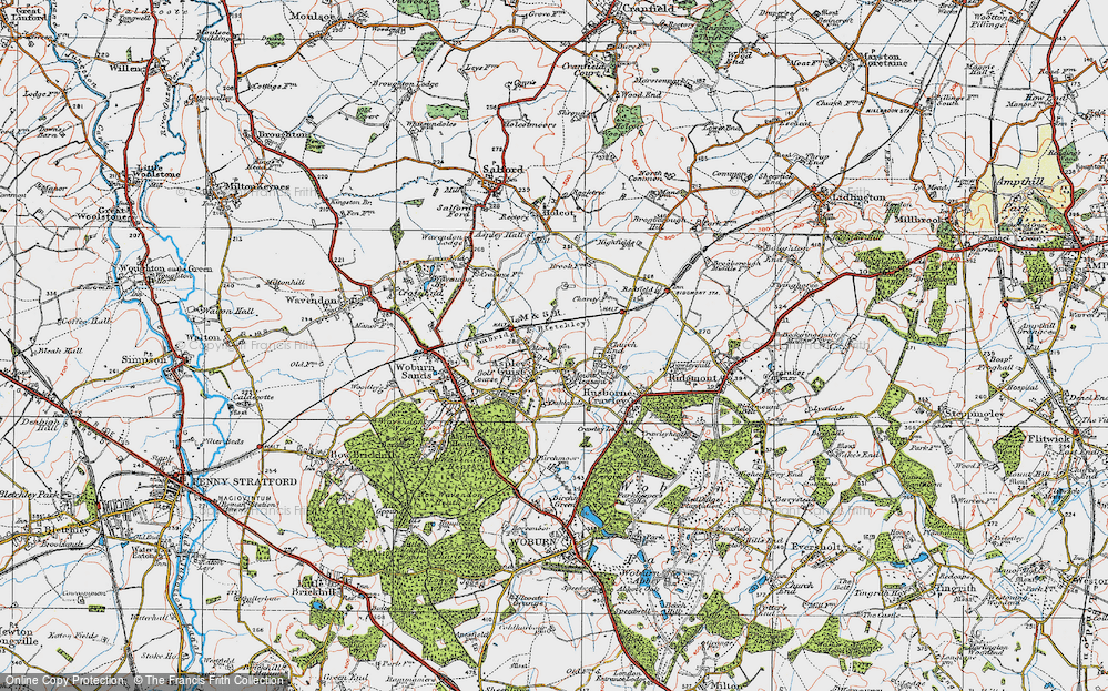 Old Map of Aspley Guise, 1919 in 1919