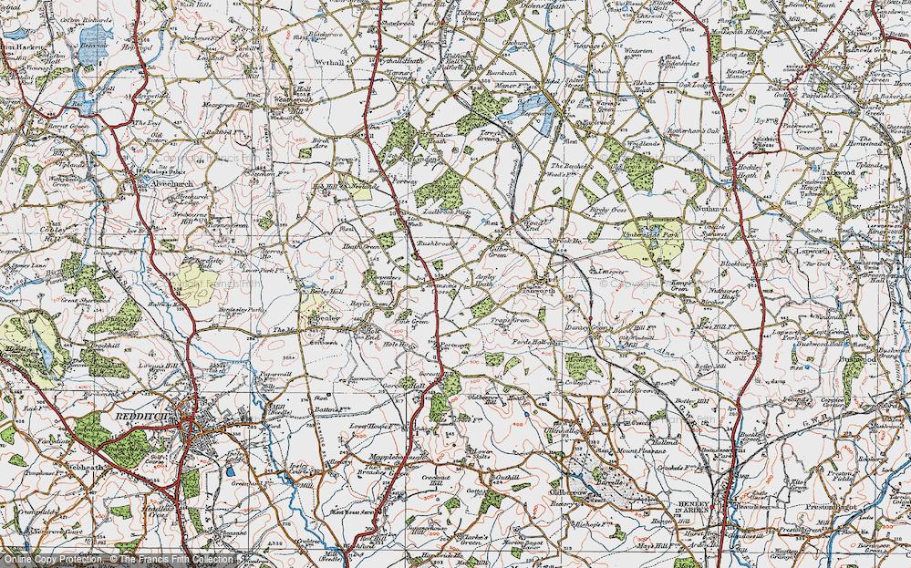 Old Map of Aspley Heath, 1919 in 1919