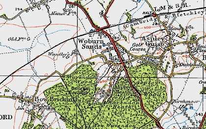 Old map of Aspley Heath in 1919