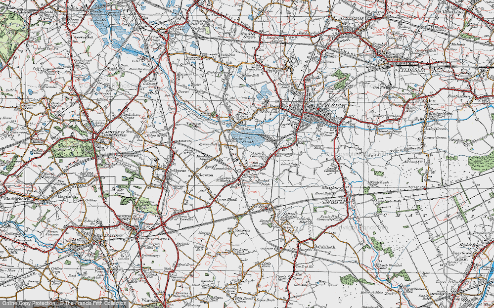 Old Map of Aspull Common, 1924 in 1924