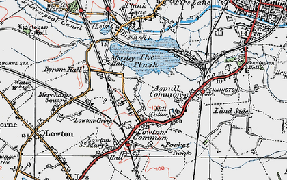 Old map of Aspull Common in 1924