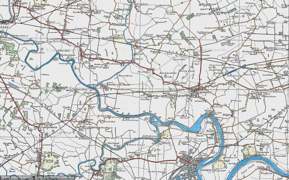 Old Map of Asselby, 1924 in 1924