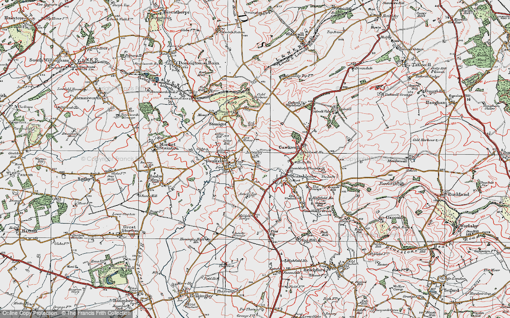 Old Map of Asterby, 1923 in 1923