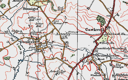 Old map of Asterby in 1923