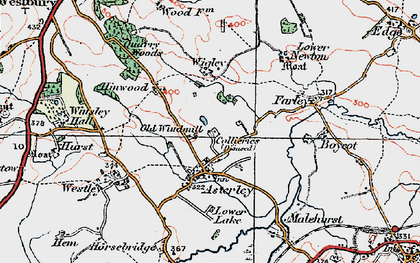 Old map of Asterley in 1921
