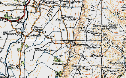 Old map of Asterton in 1920