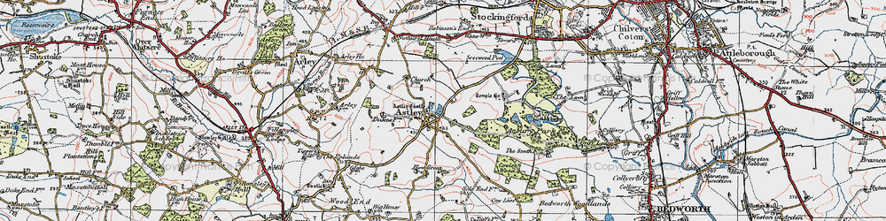 Old map of Astley in 1920