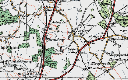 Old map of Astley in 1921