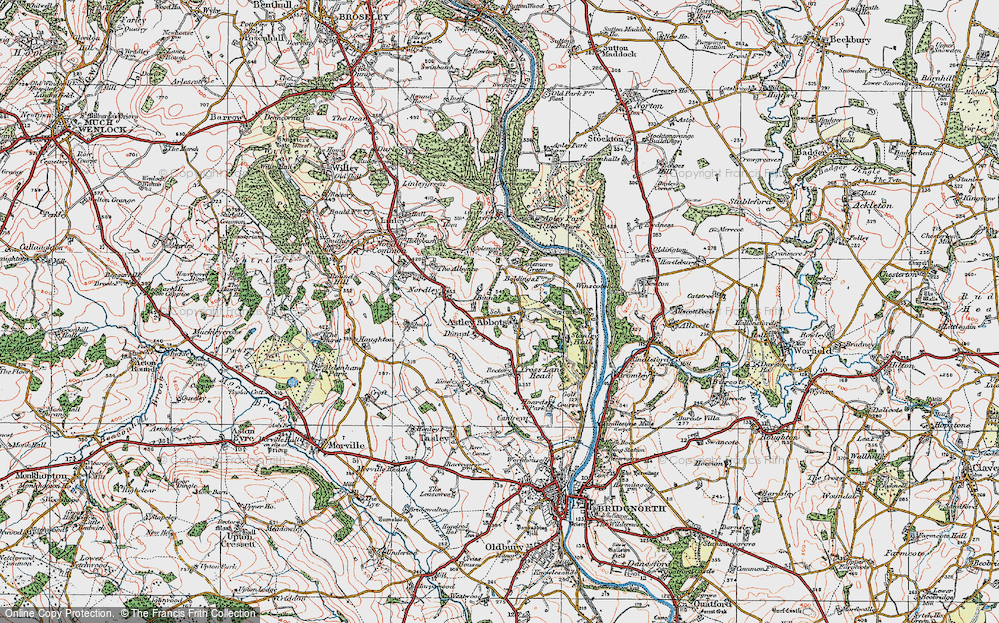 Old Map of Astley Abbotts, 1921 in 1921