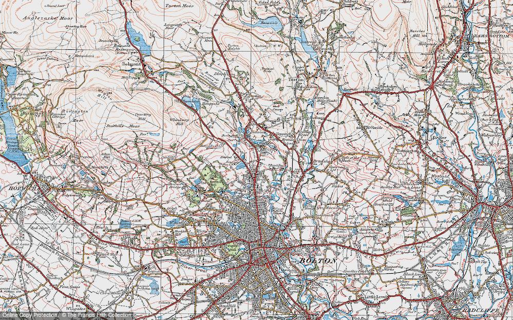 Old Map of Astley Bridge, 1924 in 1924