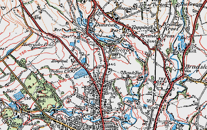 Old map of Astley Bridge in 1924