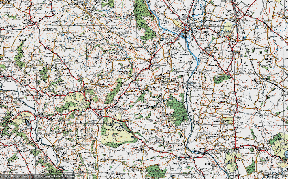 Old Map of Astley Burf, 1920 in 1920