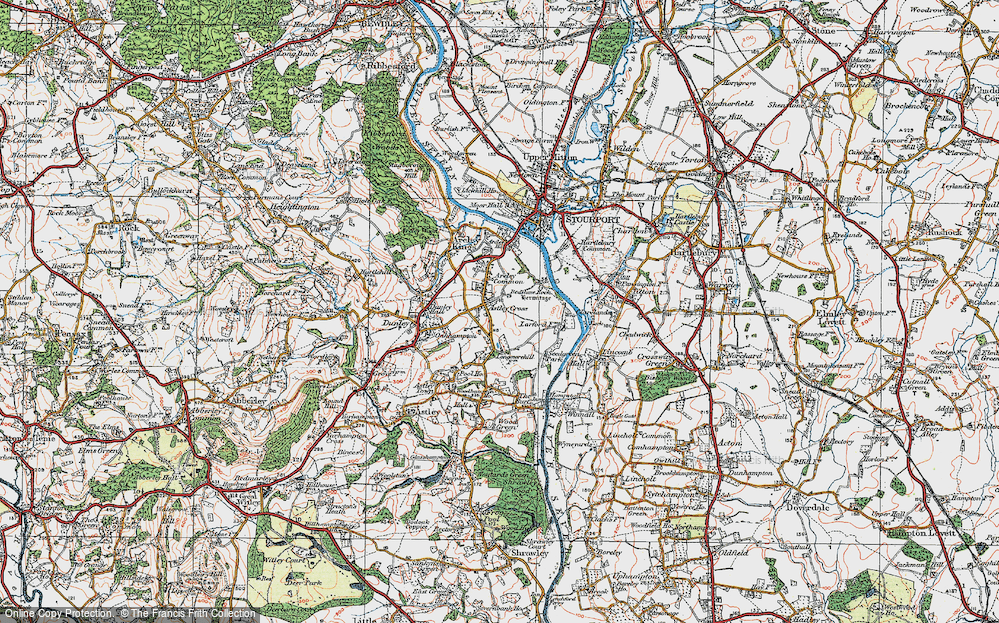 Old Map of Astley Cross, 1920 in 1920