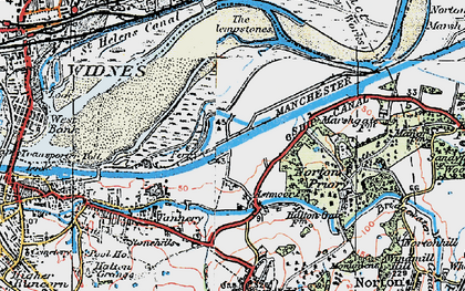 Old map of Astmoor in 1923