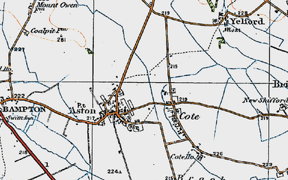 Old map of Aston in 1919
