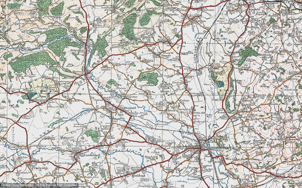 Old Map of Aston, 1920 in 1920